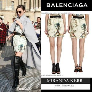 BALENCIAGA - NWOT 2013 Sphinx Print Skirt - Small